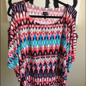 Pretty top with cape overlay
